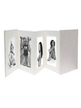 wanddecoratie-leder-of-kunstleder-leporello-met-kaft-in-grijs-linnen