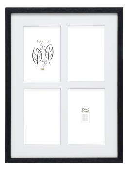 fotokader-hout-basic-zwart-hoog-profiel-voor-4-fotos-10x15cm-hout-30x40cm