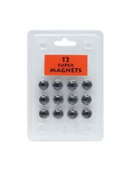 magneetbord-en-magneten-kunststof-12-magneten-zwart-blister