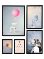 wanddecoratie-hout-fotowand-met-5-zwarte-kaders-101-mogelijkheden