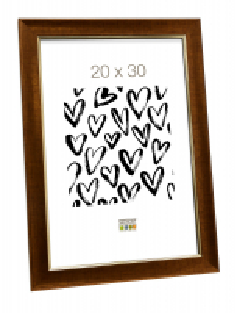 wanddecoratie-houten-fotokader-in-donkere-goudkleur-mat-glas