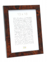 wanddecoratie-kunststof-smalle-kader-in-donkere-wortelhout-kleur