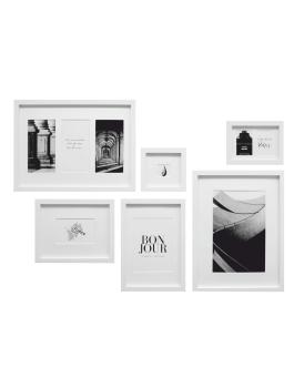 wanddecoratie-hout-fotowand-met-6-witte-kaders-101-mogelijkheden