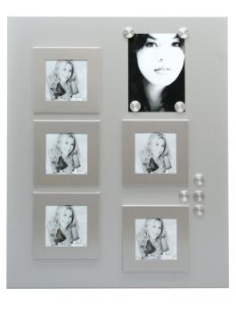 magneetbord-en-magneten-metaal-magneetbord-zilver-5-kaders-9x9cm-8-magneten