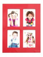 fotokader-hout-fotokader-hoogglans-rood-voor-4-fotos