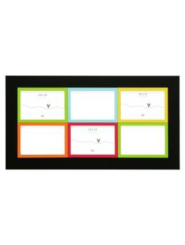 fun-deco-hout-multifotolijst-zwart-met-kleur-voor-6-fotos-10x15cm