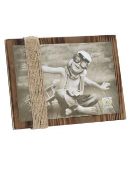 wanddecoratie-hout-fotohouder-bruin-geschilderd-met-touwtjes