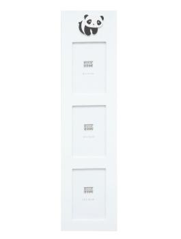wanddecoratie-hout-kader-in-wit-voor-3-fotos-met-panda