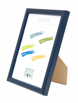 fotokader-hout-blauw-smalle-lijst-in-hout