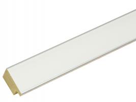 wanddecoratie-witte-fotokader-met-rand-in-zilver-mat-glas