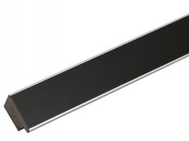 wanddecoratie-zwarte-fotokader-met-rand-in-zilver-mat-glas