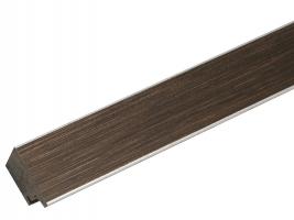 wanddecoratie-bruine-fotokader-met-rand-in-zilver-mat-glas