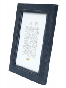 wanddecoratie-hout-fotolijst-handgeschilderd-in-blauw-met-zilvertoets-mat-glas