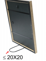 wanddecoratie-hout-fotokader-met-passe-partout-in-bronskleur