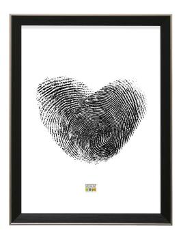wanddecoratie-fotokader-in-zwart-met-zilverkleurige-buitenrand-mat-glas