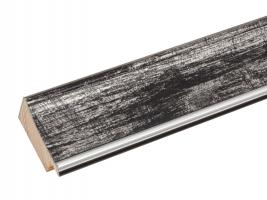 wanddecoratie-zwarte-houten-kader-met-zilverkleurig-biesje-mat-glas