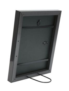 wanddecoratie-kunststof-smalle-kader-in-grijs-bruine-wortelhout-kleur