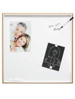 wanddecoratie-kunststof-magneetbord-in-houtkleur-met-wit-biesje