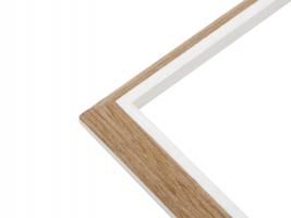 wanddecoratie-kunststof-fotokader-in-houtkleur-met-wit-biesje-en-passe-partout-voor-2-fotos
