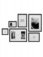 wanddecoratie-hout-fotowand-met-6-zwarte-kaders-101-mogelijkheden