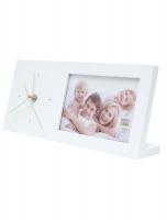 fun-deco-hout-fotokader-wit-met-klok-13x30cm-staand-model