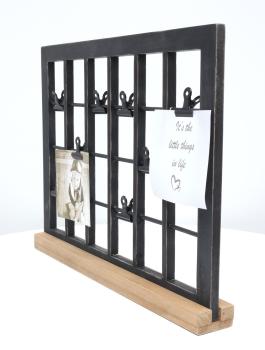 wanddecoratie-hout-multi-fotokader-in-zwart-met-clips-en-met-houten-staander