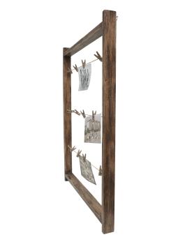 wanddecoratie-hout-fotoladder-in-bruin-hout-met-wasknijpers