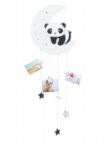 wanddecoratie-hout-fotohanger-in-maanvorm-met-panda-voor-7-fotos