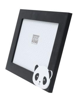 wanddecoratie-hout-fotokader-in-zwart-met-panda