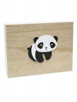 wanddecoratie-hout-decoratieve-fotodoos-in-wit-met-naturel-en-met-panda-motief