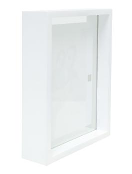 wanddecoratie-hout-glaskader-in-wit-hout-met-zwevend-foto-effect
