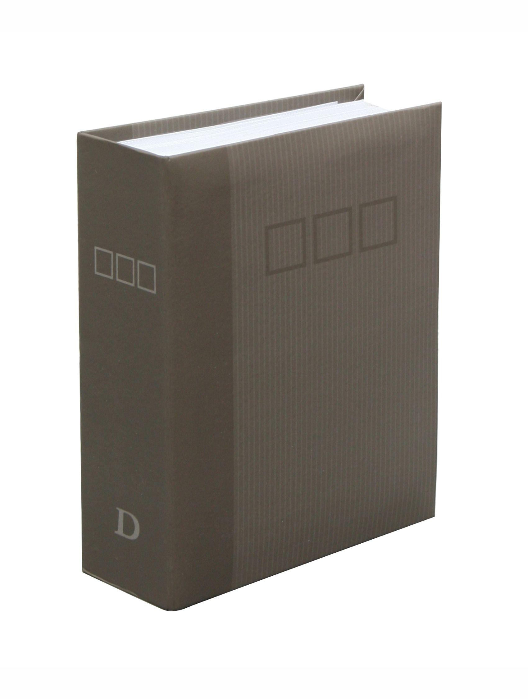 slip-in album, grijs, voor 100 foto's,omslag in papier A40H70 100PH