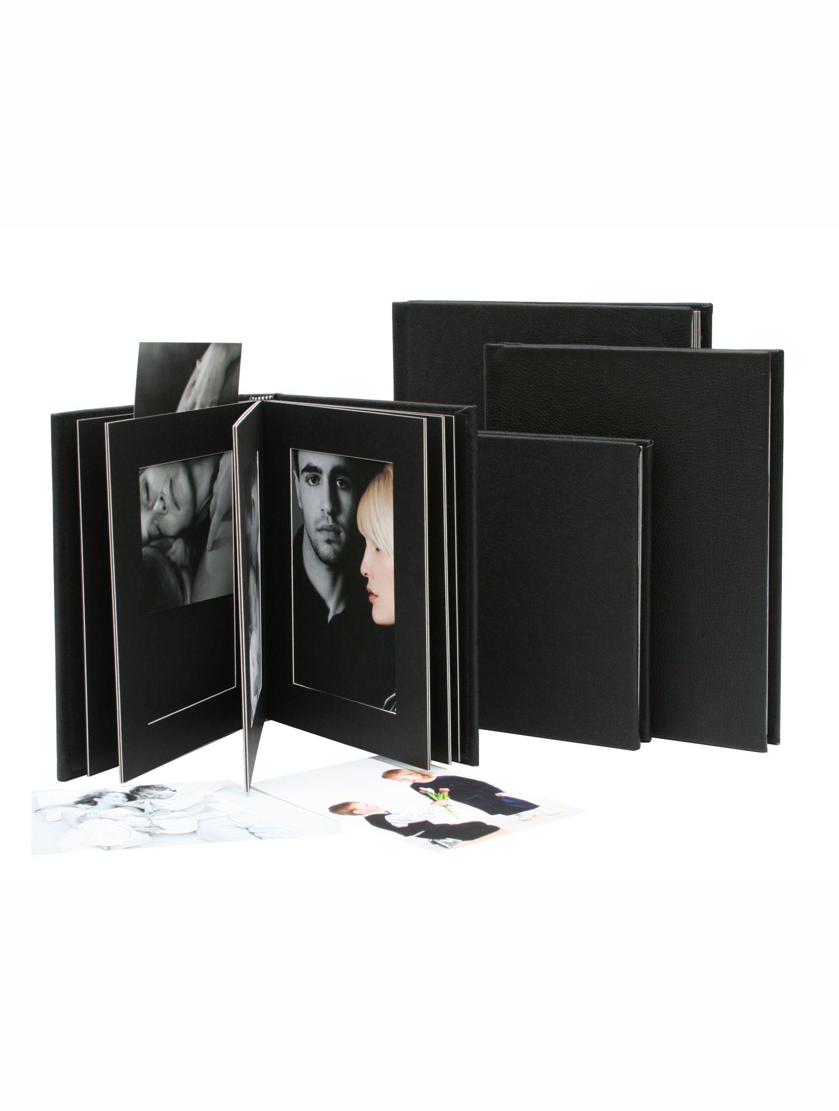 passepartout album, zwart leder, 10 foto's A66DA2 10PH