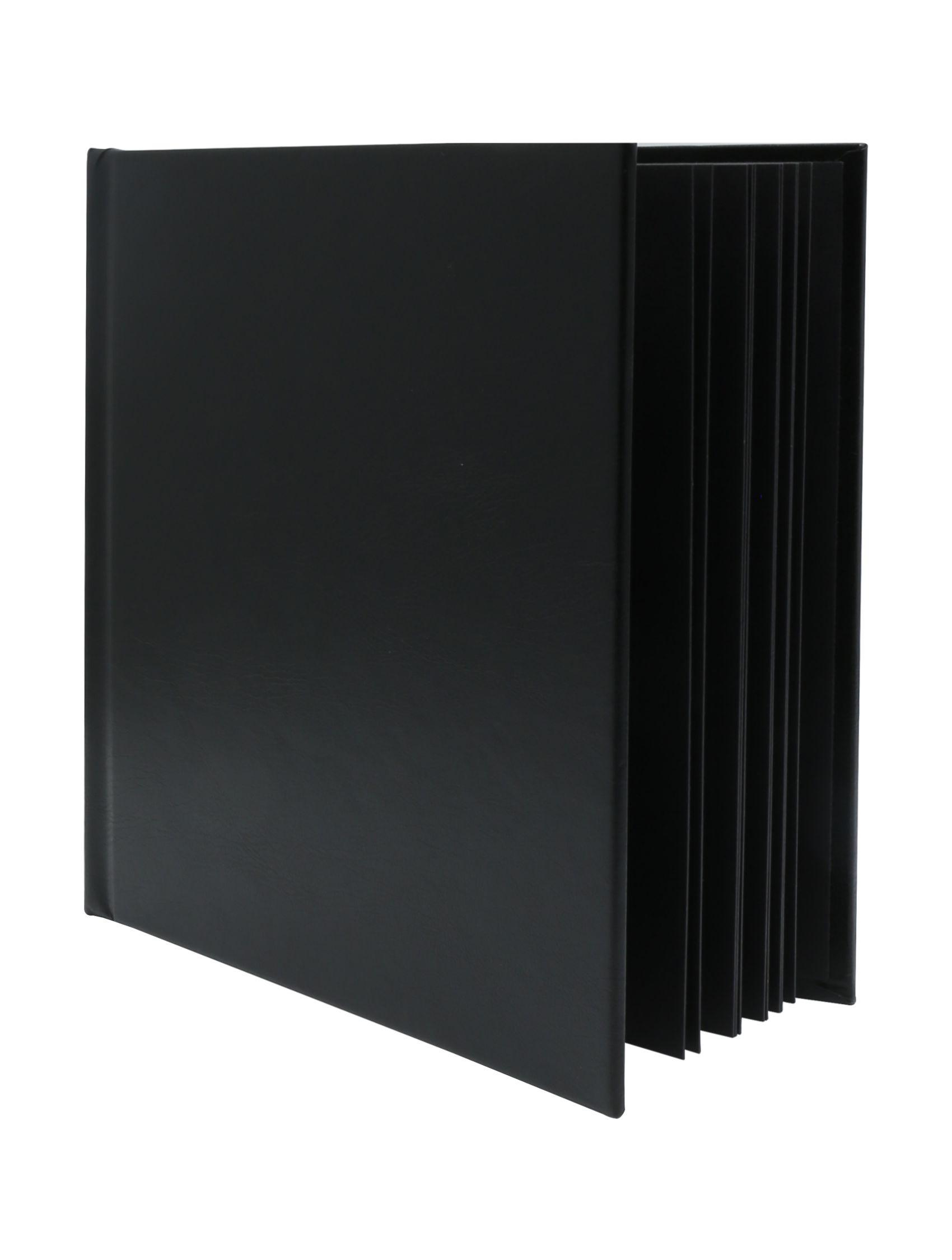 Kleefalbum zwart met kaft in leder A66DF2 20SI