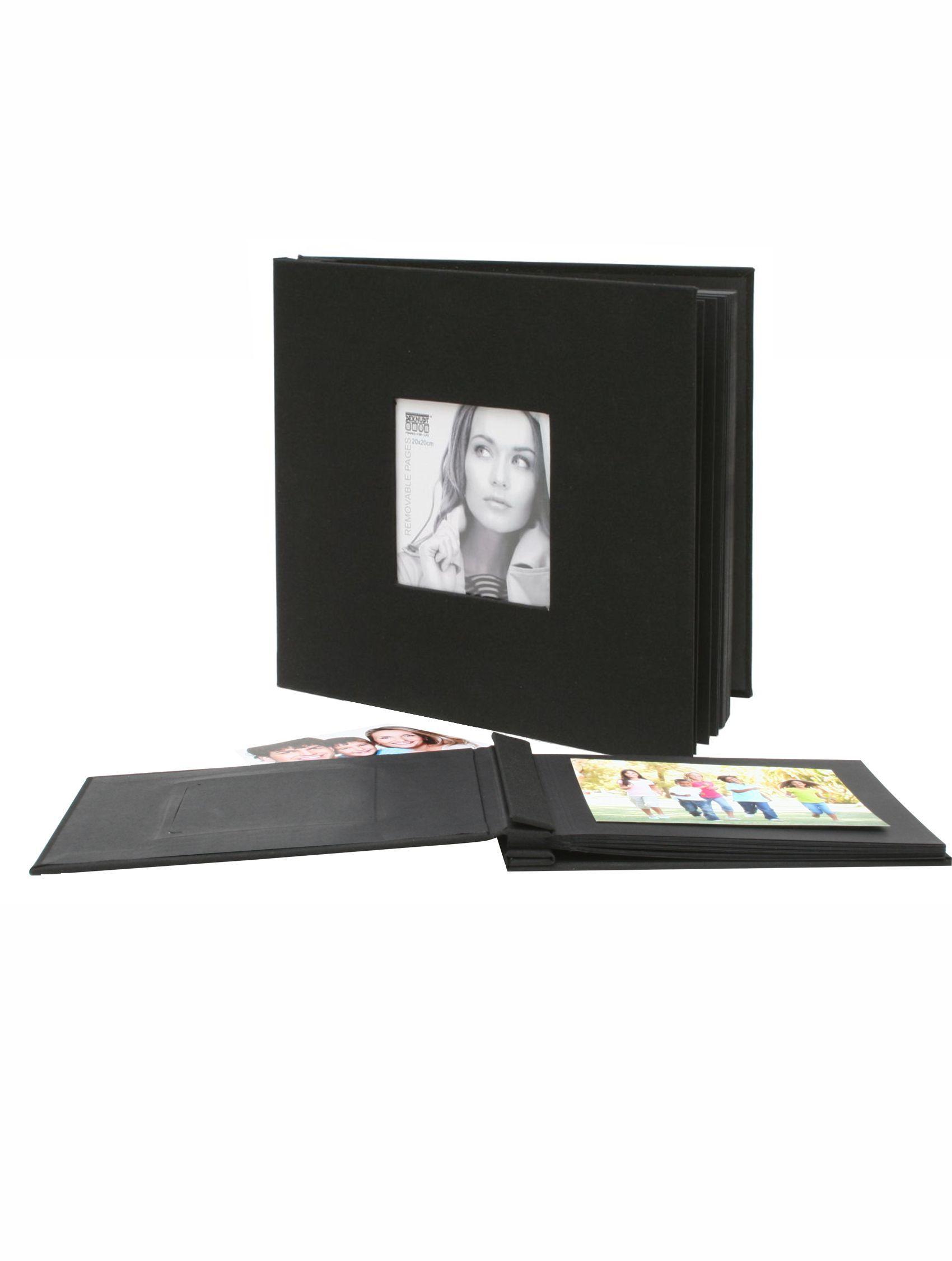 Fotoalbum zwart, 20 bladenuitneembaar, 40 bladzijden A66DH2 40SI