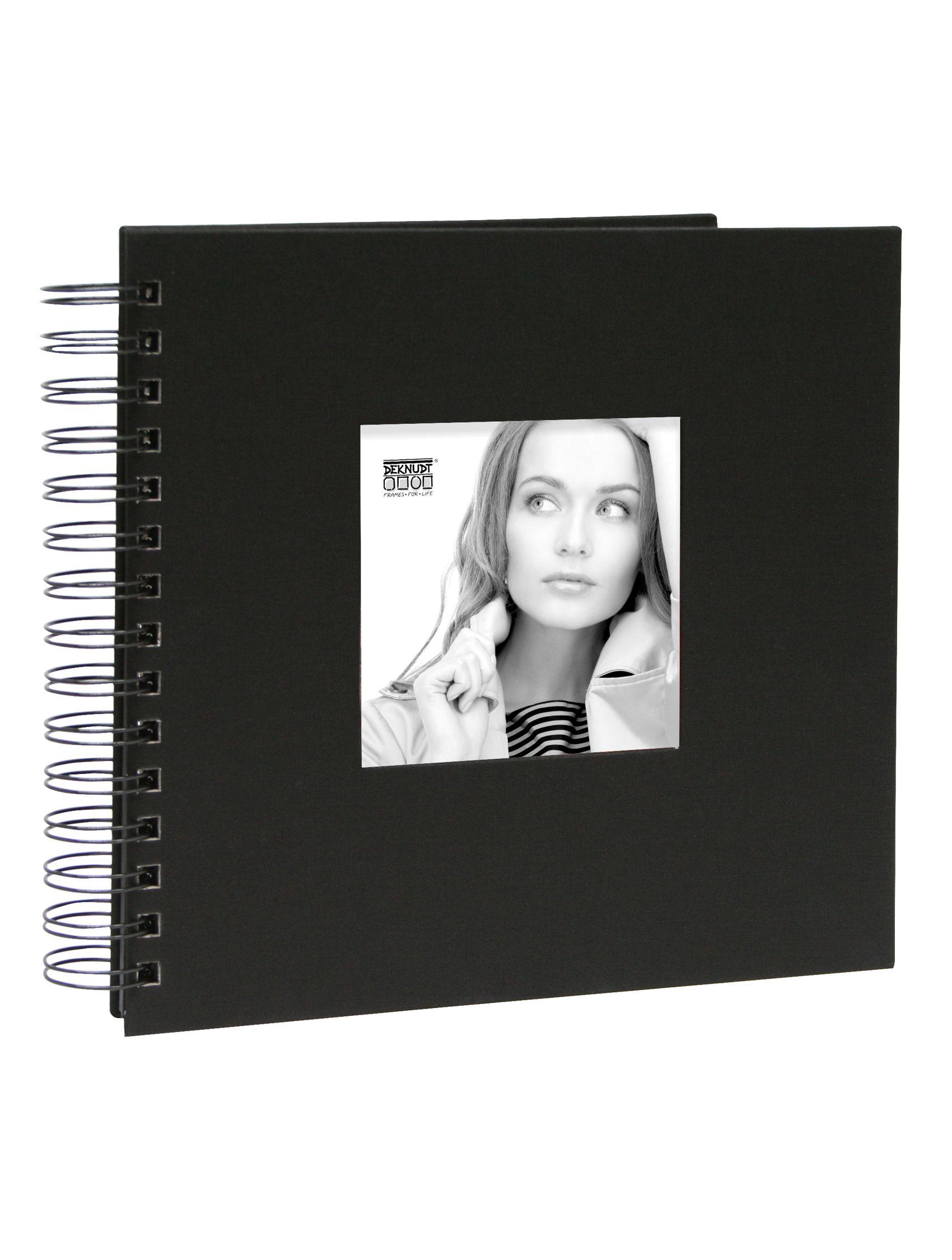 Spiraalalbum zwart linnen met 48 zwarte pagina's A66FA2 48PH