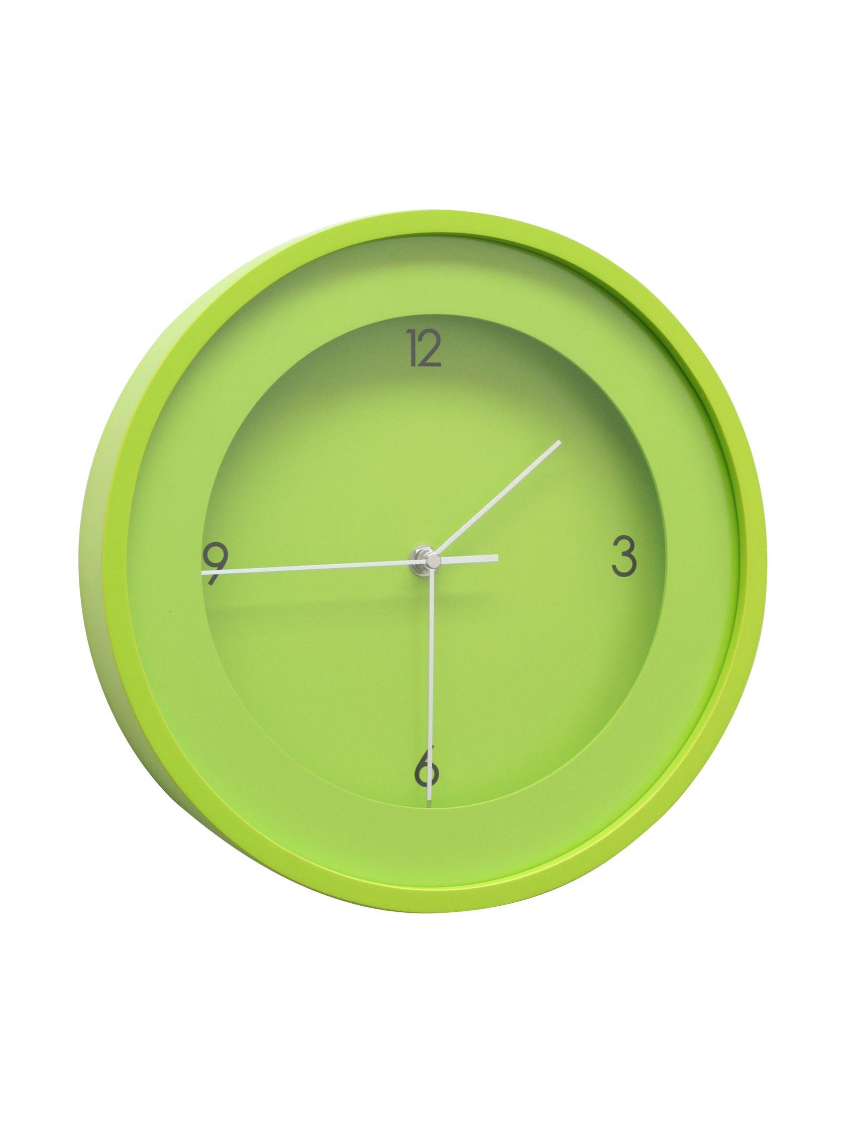 Klok groen, rond, 30cm diam. K100K8 CL