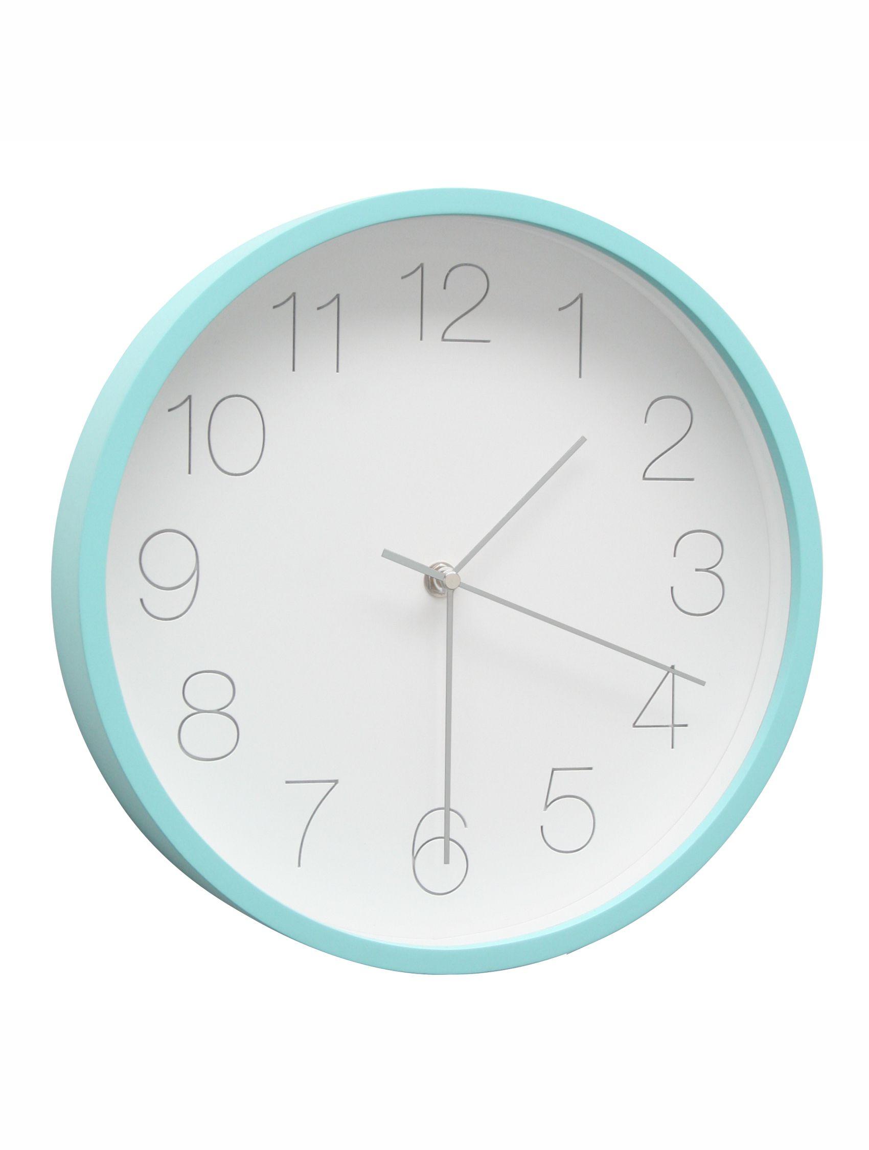 Klok met blauwe rand, rond, 30cm diam. K102K6 CL