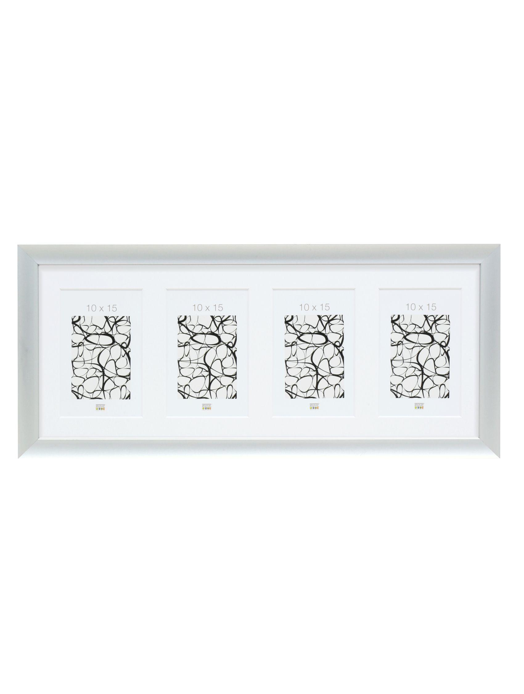 Zilverkleurige multifotolijst in aluminum voor 4 foto's S021D1 P4