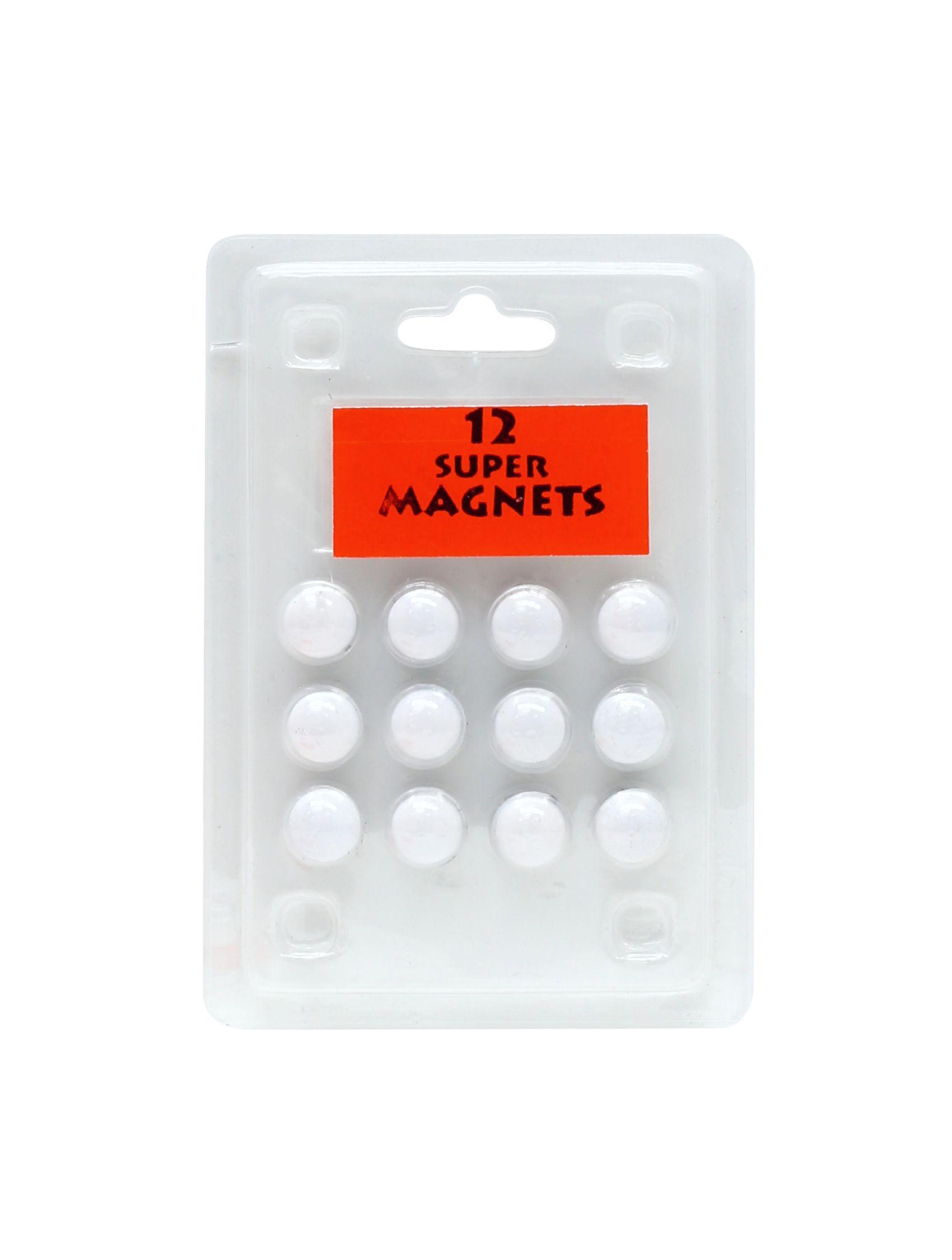12 magneten wit , blister S328B1