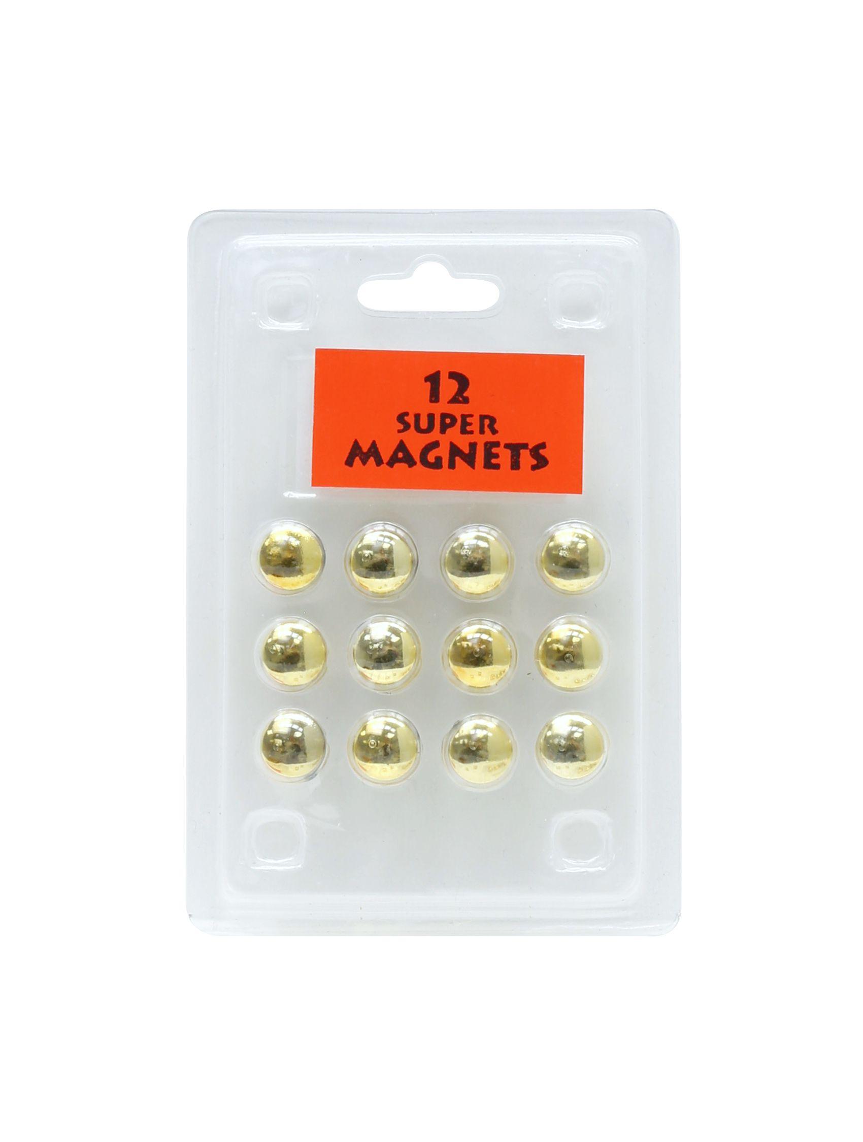 12 magneten goud, blister S328B4