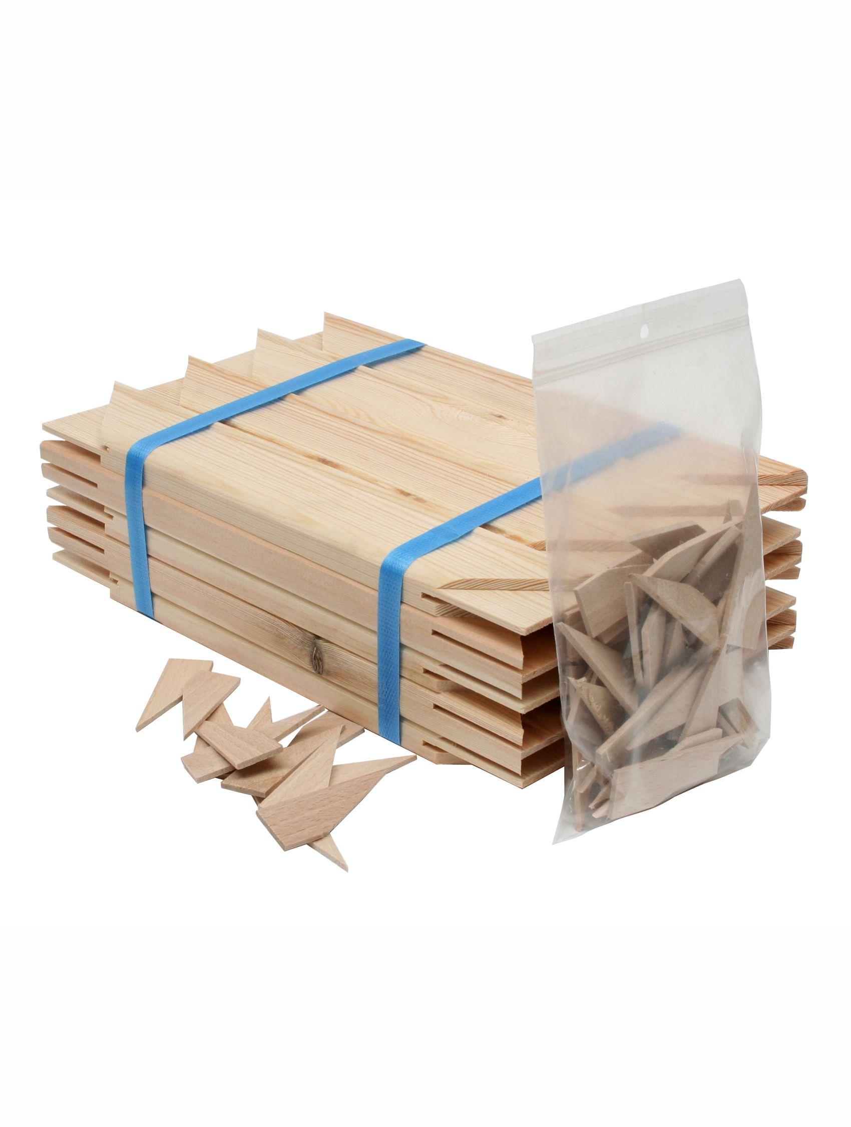 Spanlat + spanhoekjes naturel hout S334PA