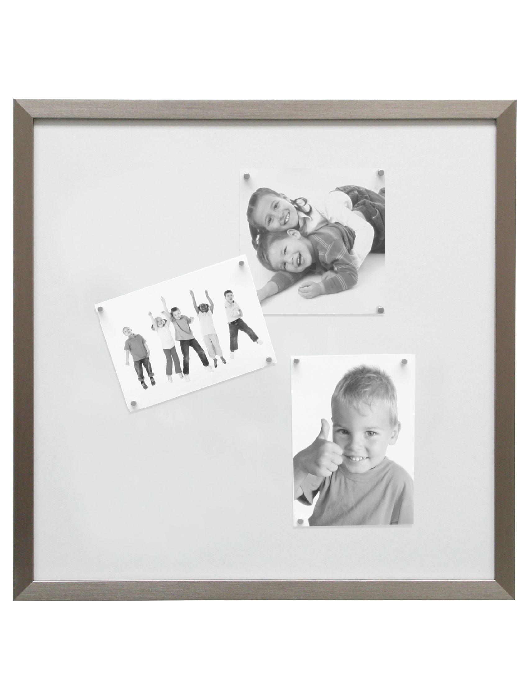 Magneetbord zilver met witte magneten (8st voor 30x40 en 40x50 - 10st voor 50x50cm) S41VD1 M
