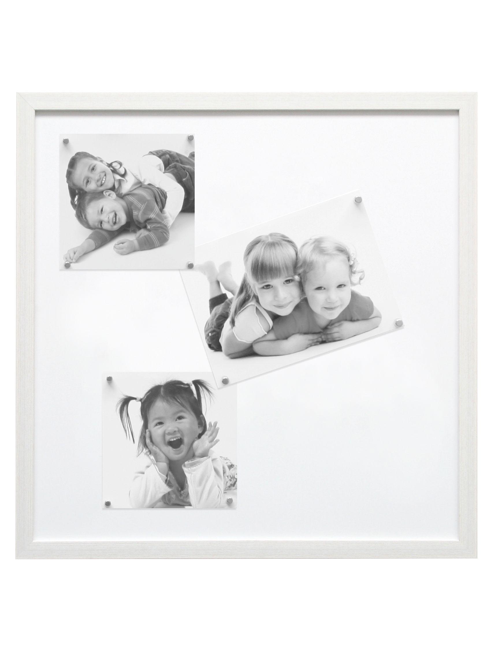 Magneetbord wit met witte magneten (8st voor 30x40 en 40x50 - 10st voor 50x50) S41VF1 M