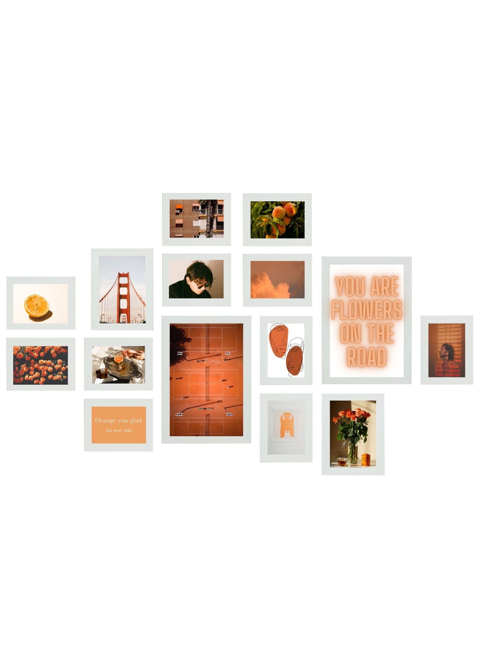Wall 1 - fotowand wit, 15 fotokaders S41VH1 WALL1