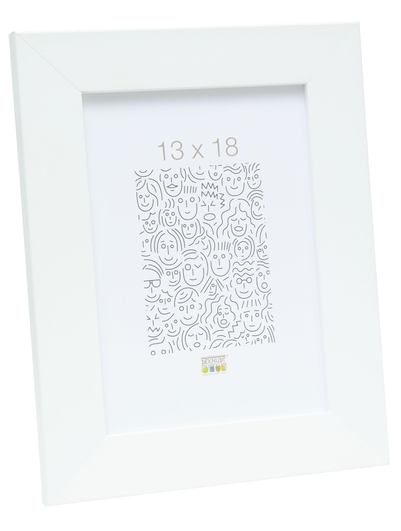 fotokader wit, breed kunststof S42PH1