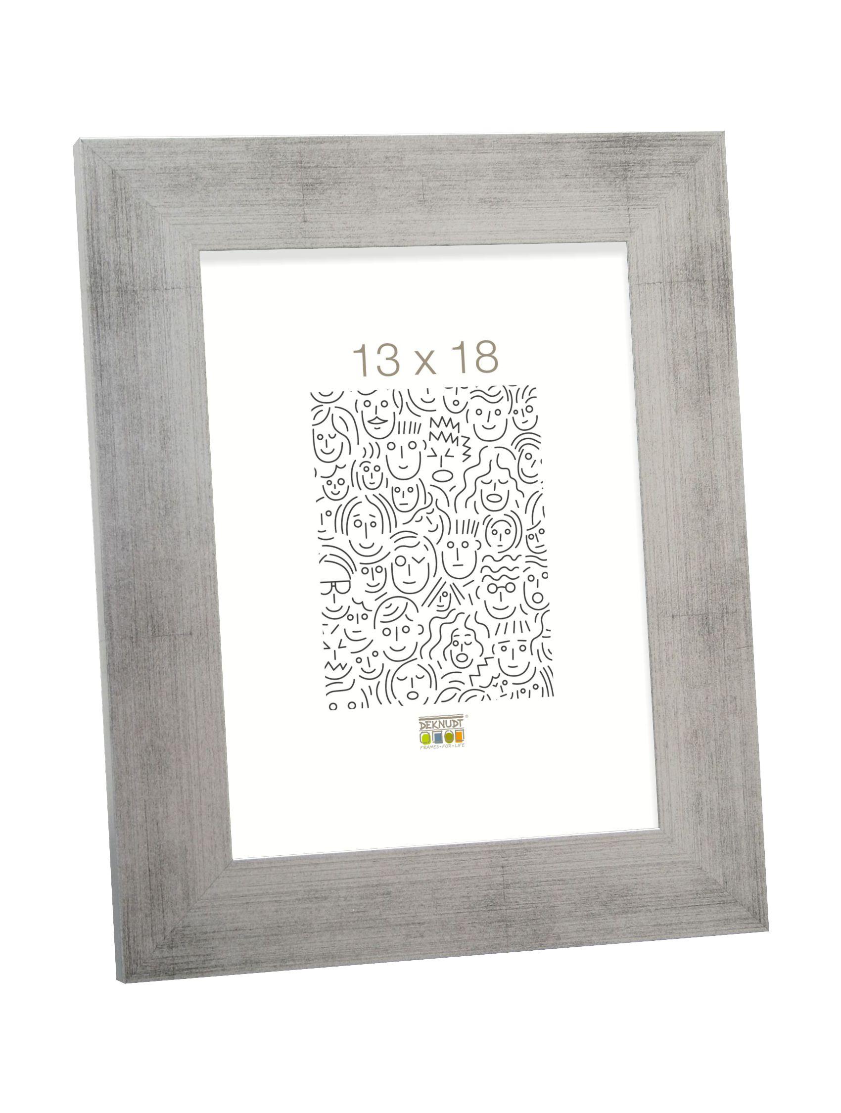 fotokader hout, zilver    4.4cm breed S43BD1