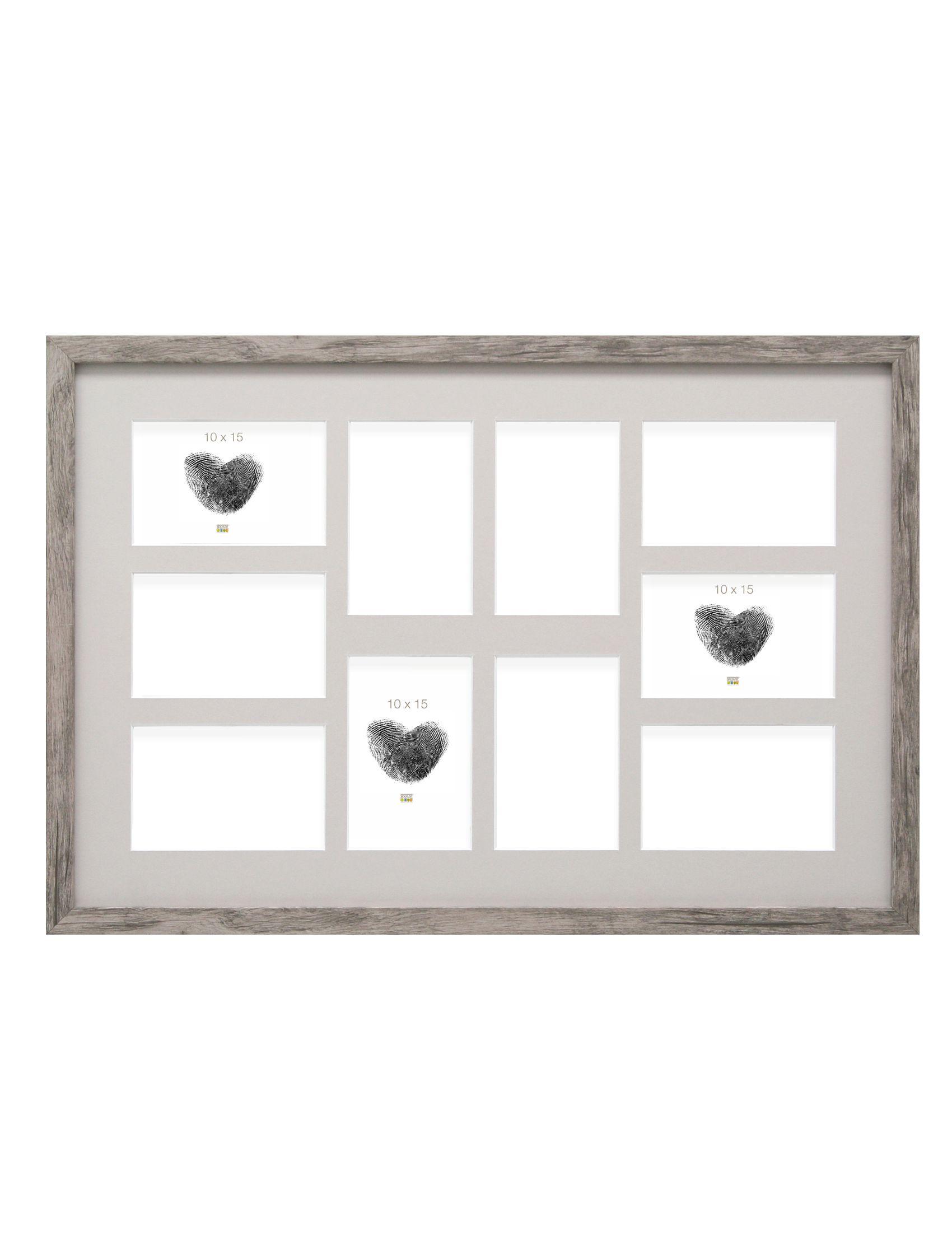 Multifotolijst grijsbeige voor 10 foto's 10x15 (40x60cm) S45RH7 P10