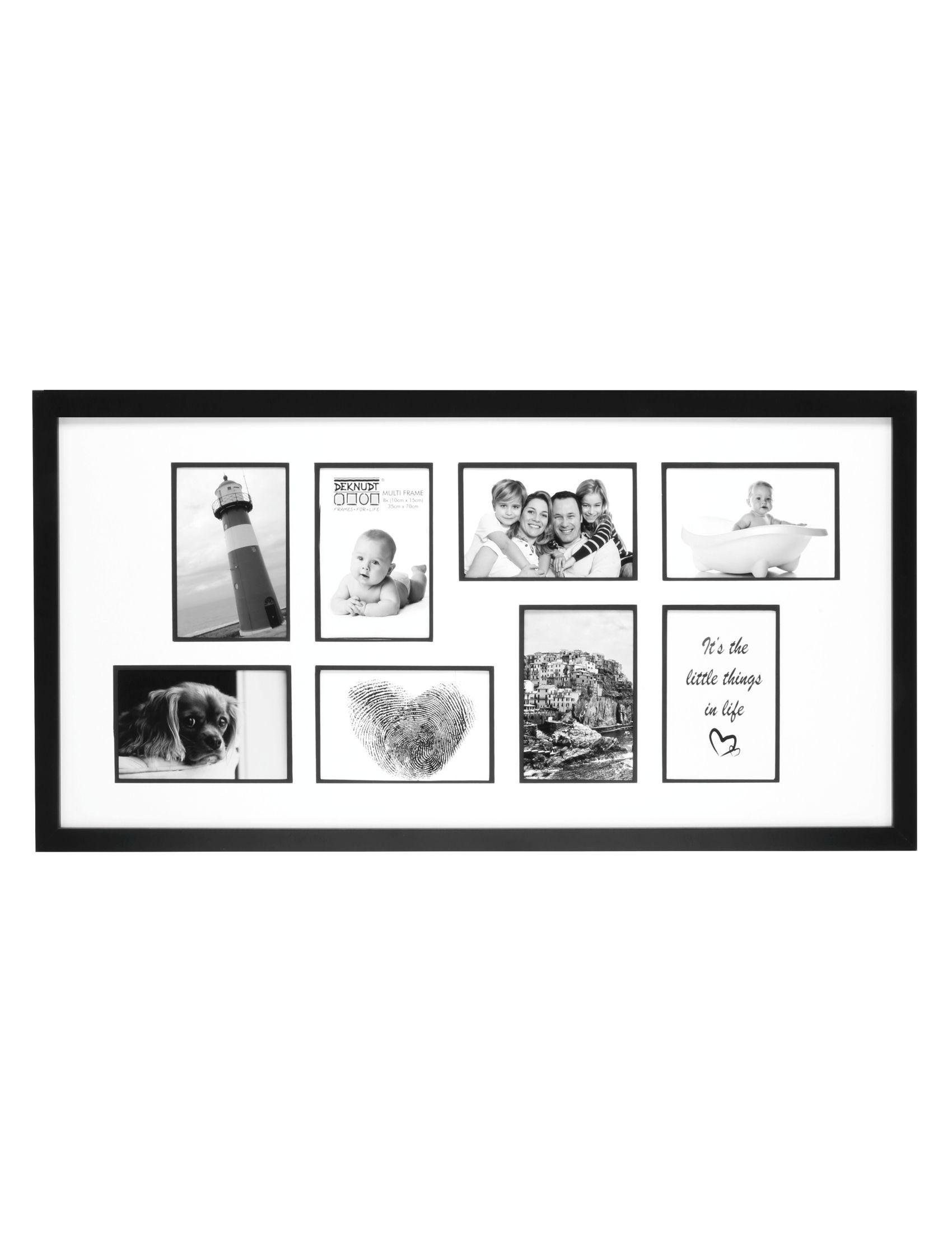 Multifotolijst in tijdloos zwart voor 8 foto's S45SK2 P8