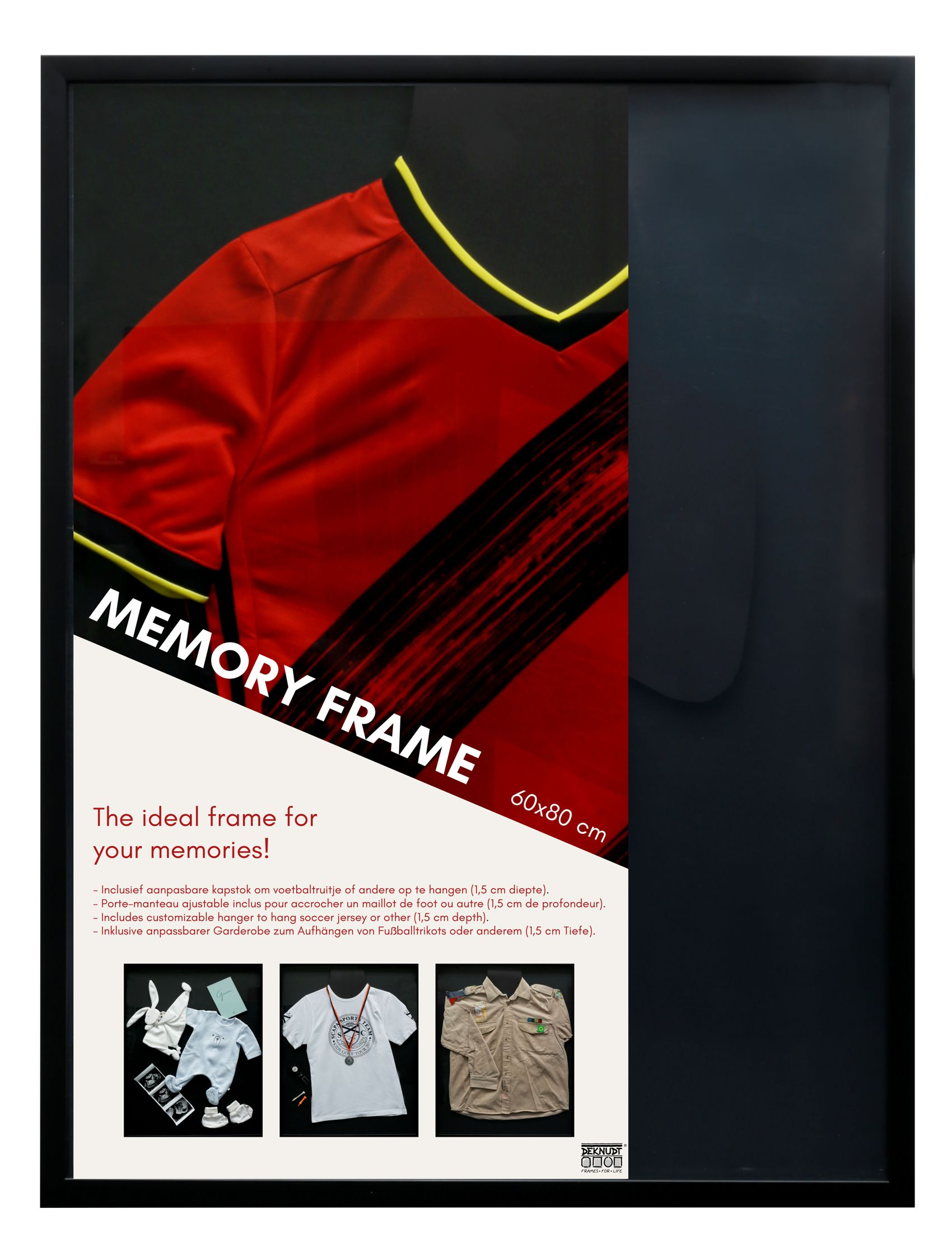 Memory Frame - Zwarte kader voor inlijsten van T-shirt of andere leuke objecten S46VK2 MEMORY
